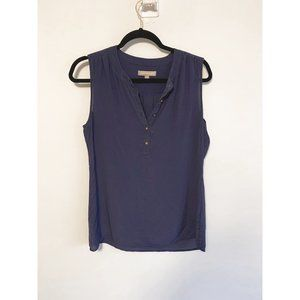 Banana Republic Blue Sheer Sleeveless Blouse